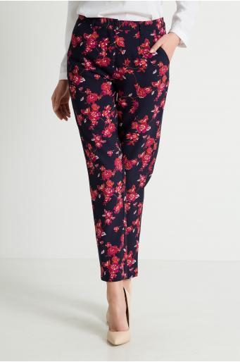 Kwieciste spodnie chino