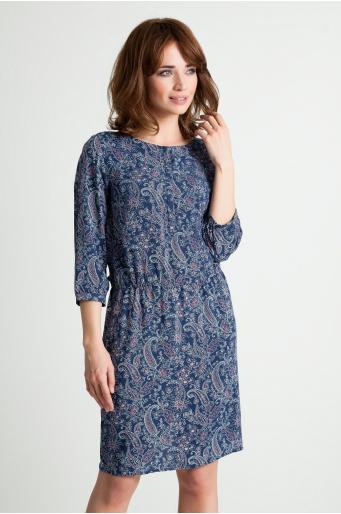 Wiskozowa sukienka we wzory