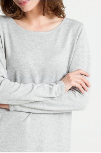 Wiskozowy sweter z wiązaniem na plecach