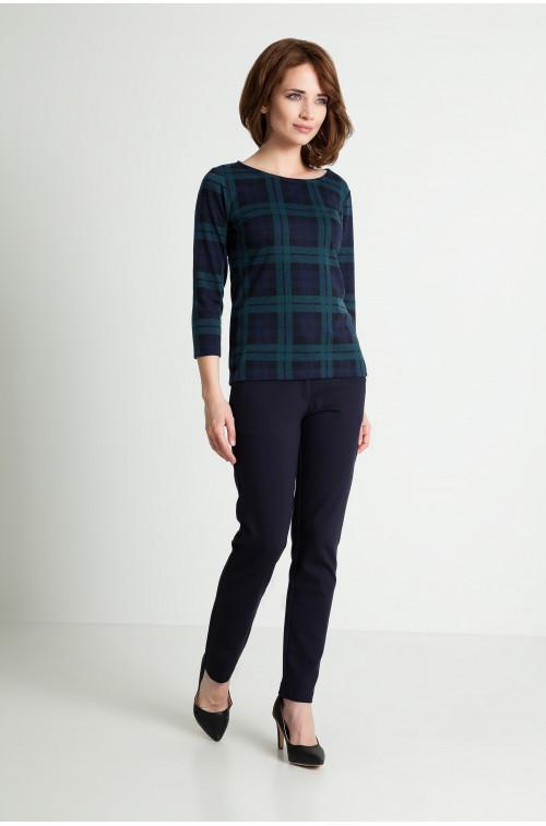 Bluza w zieloną kratę