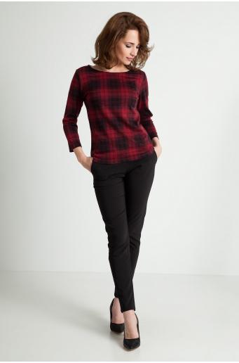 Bluza w czerwoną kratę