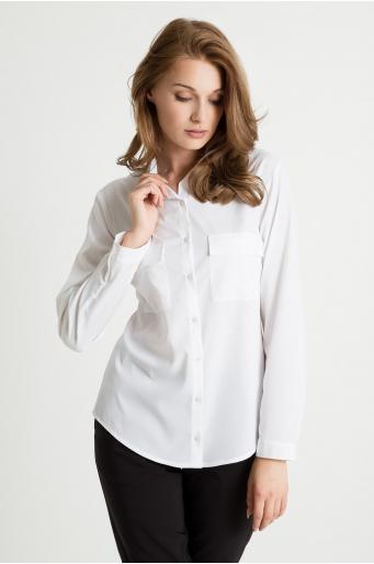 Bluzka koszulowa z kieszeniami