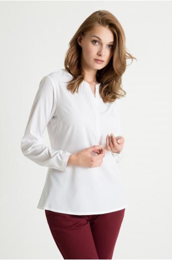 Elegancka bluzka z dekoltem w szpic