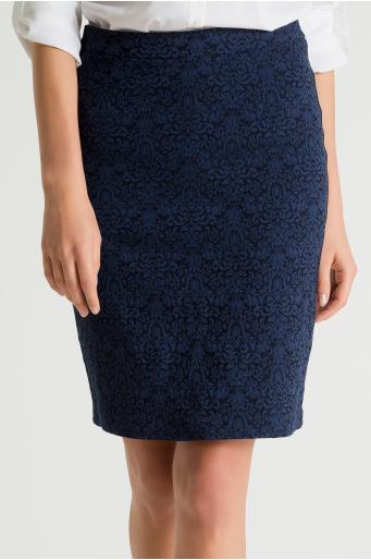 Spódnica z tkaniny żakardowej