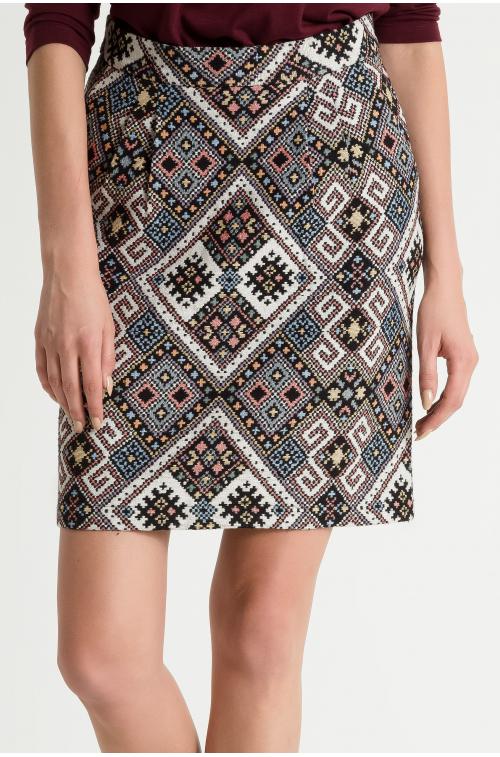 Spódnica z żakardowej tkaniny