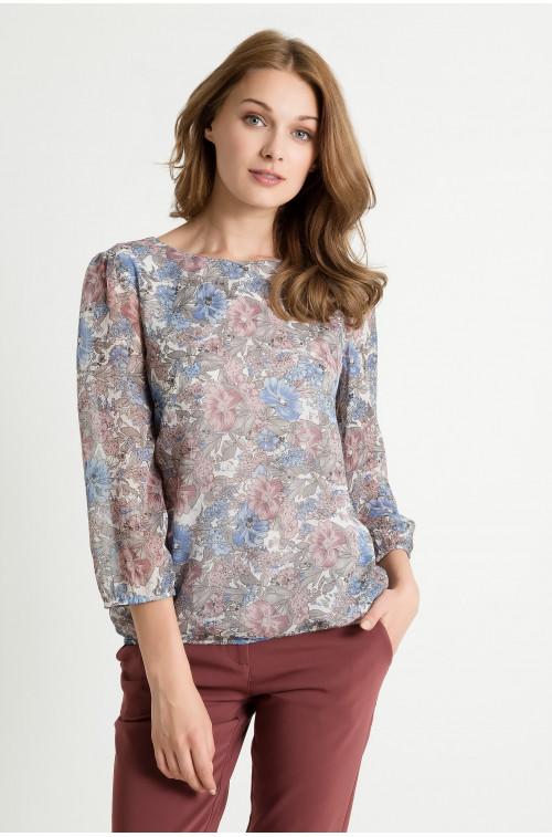 Szyfonowa bluzka z nadrukiem