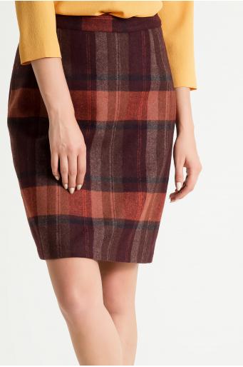 Spódnica z tkaniny w kratę