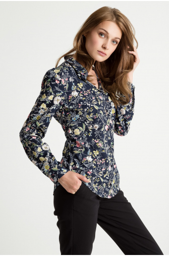 Bluzka koszulowa z nadrukiem