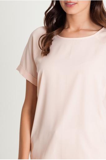 prosta bluzka z raglanowym rękawem