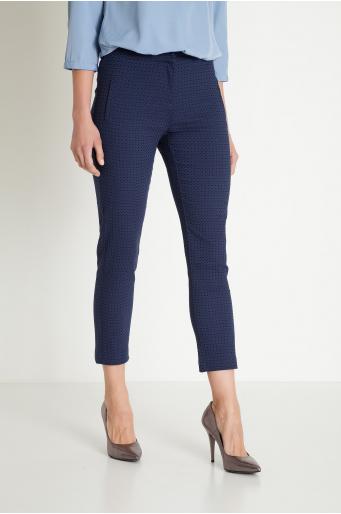 Klasyczne spodnie żakardowe