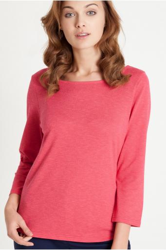 Sweter z dekoltem w szpic