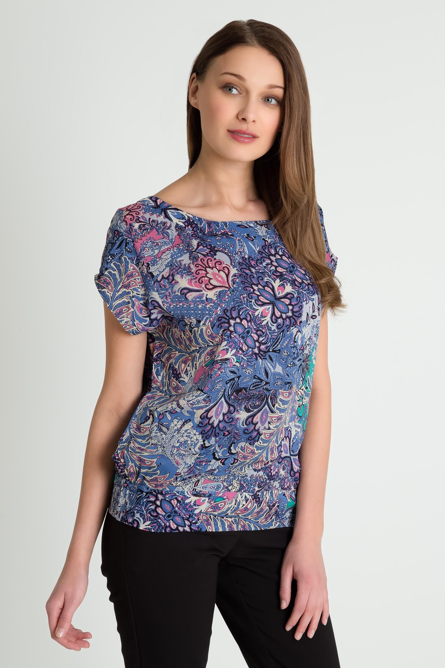 Wiskozowa bluza ze ściągaczem