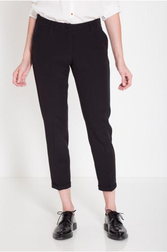 Eleganckie spodnie cygaretki 3/4  z wąskim mankietem