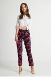 Spodnie typu 'chino' z nadrukiem kwiatowym