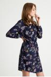 Wiskozowa  sukienka z kokardka