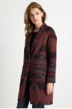 Płaszcz tkaninowy we wzory