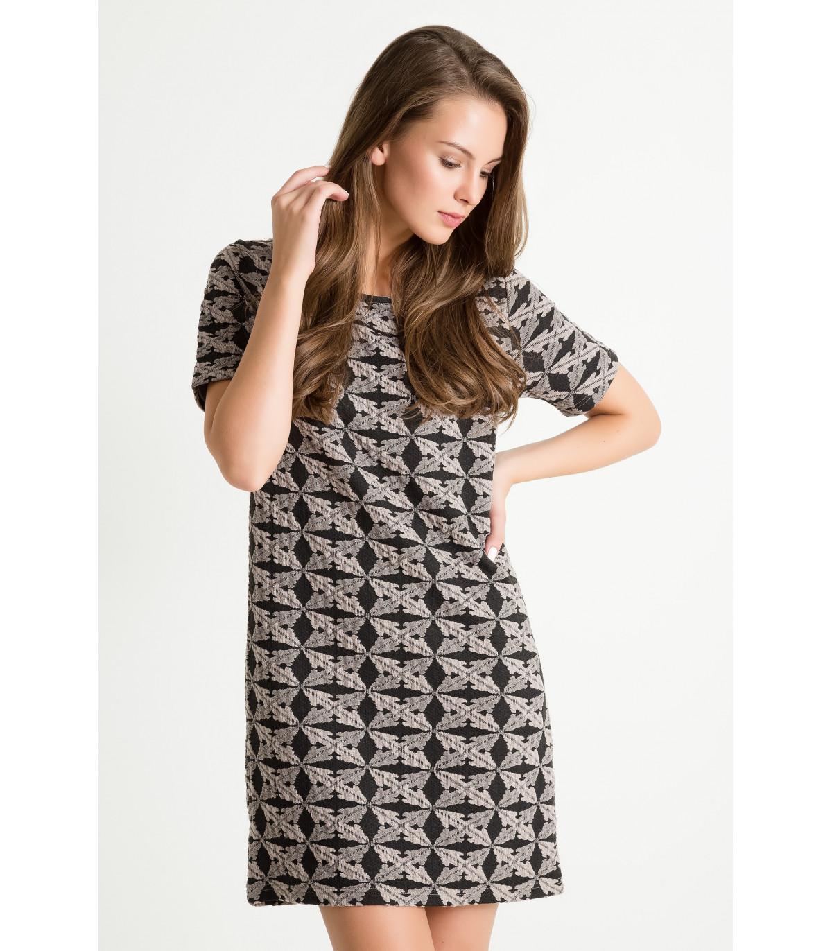 0e5ccec788 Sukienka z dzianiny żakardowej Rozmiar 36 Kolor B16PRT22
