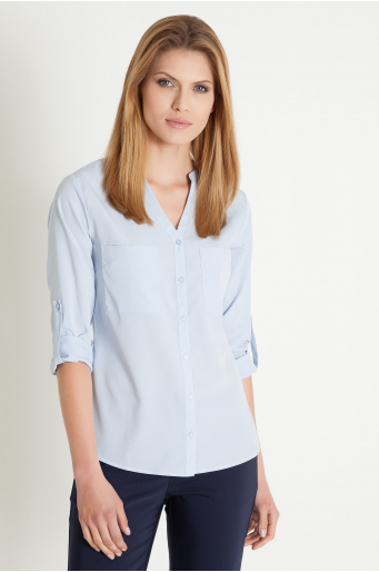 Elegancka bluzka z dekolem w szpic