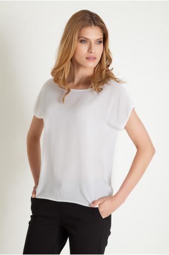 Wiskozowa bluzka z dekoracyjnej tkaniny