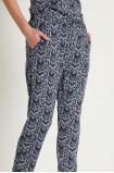 Wiskozowe spodnie z nadrukiem