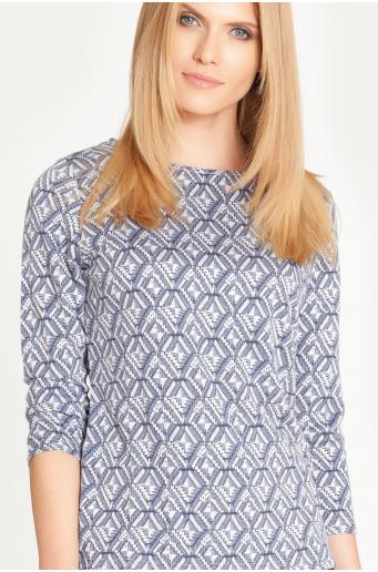 Sweter z motywem geometrycznym