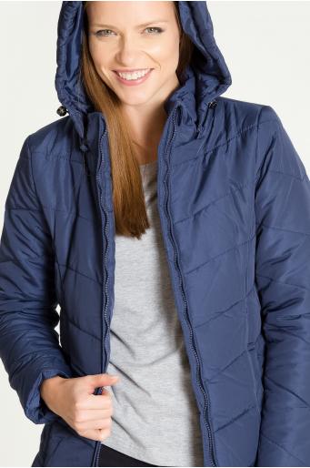 Pikowana kurtka z odpinanym kapturem