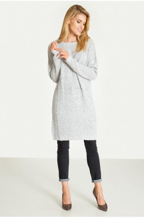 Luźna tunika swetrowa