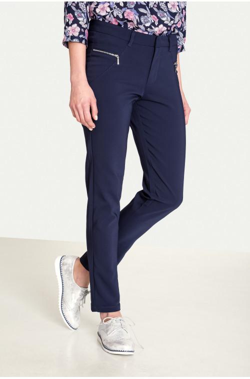 Klasyczne spodnie z ozdobnymi zamkami