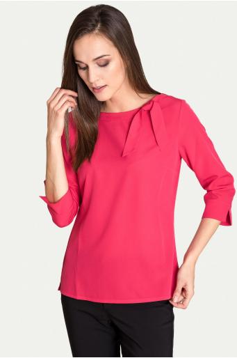 Elegancka bluzka z ozdobnym wiązaniem