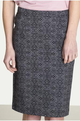 Ołówkowa spódnica z motywem pepitki