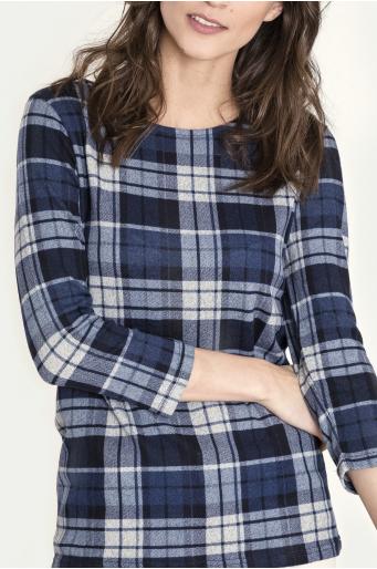 Sweter z motywem kraty