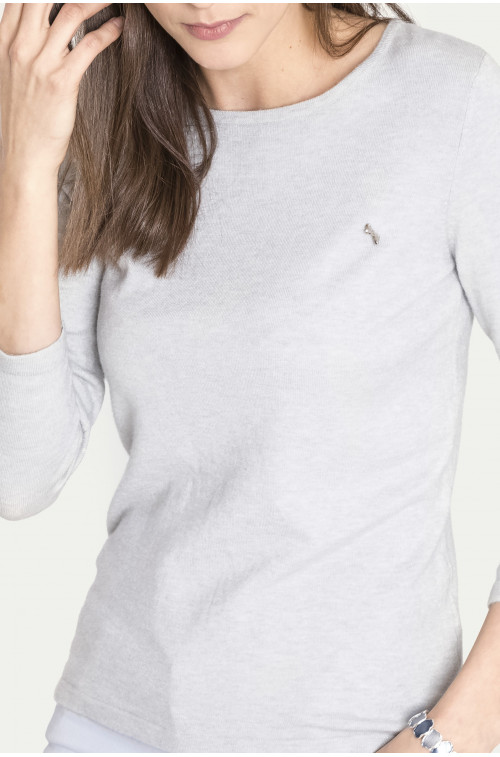 Wiskozowy sweter z motywem dekoracyjnym