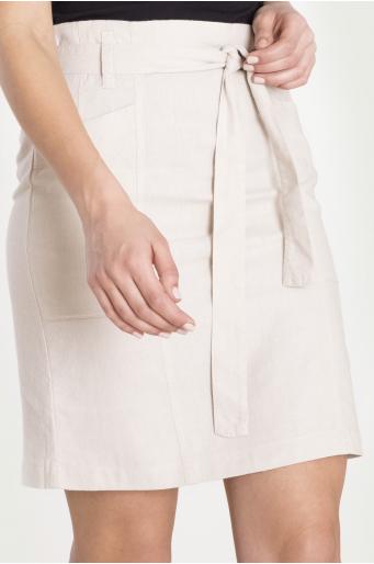 Klasyczna spódnica z lnem