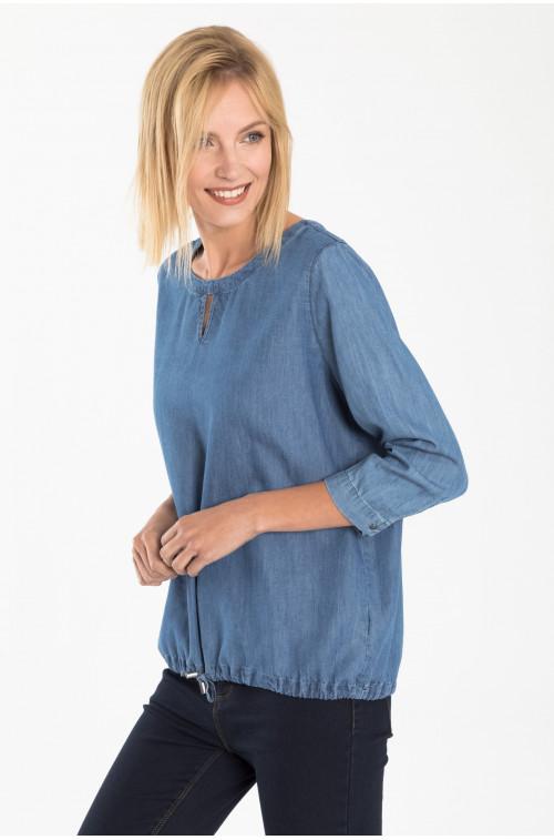 Bawełniana bluzka z troczkiem
