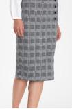 Spódnica ołówkowa z motywem kraty