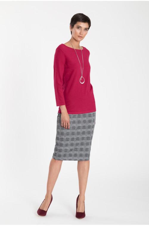 Sweter z dekoracyjnym wiązaniem na plecach