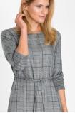 Wiskozowa sukienka z motywem kraty