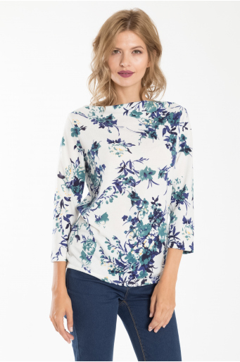 Sweter z motywem kwiatowym