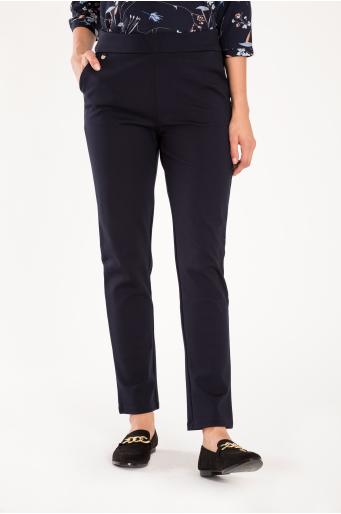 Eleganckie spodnie z podniesionym stanem