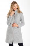 Elegancki płaszcz za stójką