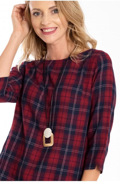 Bawełniana bluzka w kratę