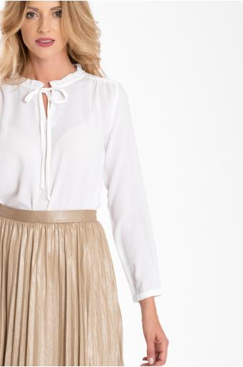 Rozkloszowana, plisowana spódnica