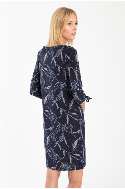 Sukienka dzianinowa z nadrukiem