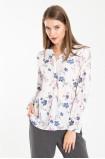 Elegancka bluzka z nadrukiem w kwiaty