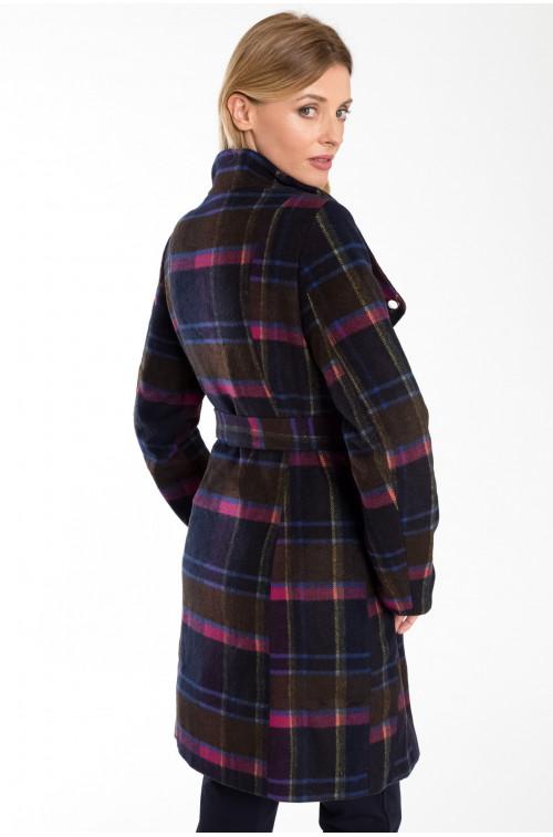 Elegancki płaszcz z paskiem