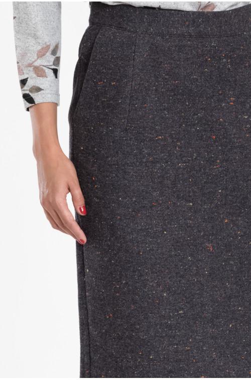 Spódnica ołówkowa z podwyższoną talią