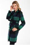 Elegancki dwurzędowy płaszcz z paskiem