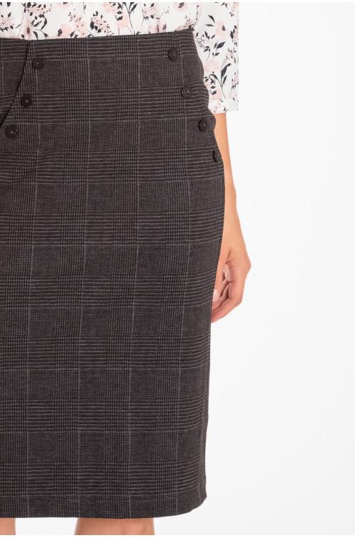Spódnica ołówkowa z dekoracyjnymi guzikami