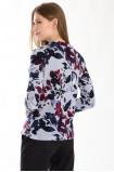 Sweter z nadrukiem i ozdobnym wiązaniem