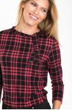 Sweter z motywem kraty i dekoracyjnym wiązaniem